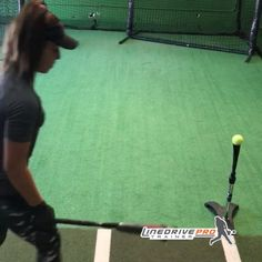 Creates ' feel ' of a proper swing path through visual feedback. For all ages and skill level. Hitting Drills Softball, Softball Gear, Softball Workouts, Softball Coach, Softball Quotes, Softball Bats, Girls Softball, Softball Players, Fastpitch Softball