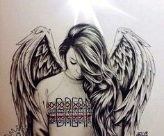 teenager angel drawing - Google Search