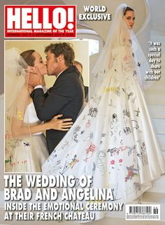 Reading: Angelina Jolie and Brad Pitt's wedding album. Image: Hello! Magazine  Hat tip @sam_amjadali @easyweddings Ping @misspopc  @sassisam