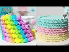Best Satisfying Cake Decorating Compilation 💛 Most Amazing Cakes Styles & Ideas 2018 Buttercream Cupcakes, Fondant Cakes, Oddly Satisfying Videos, Chocolate Decorations, Fashion Cakes, Cake Decorating Tutorials, Sugar Art, Love Cake, Cake Tutorial