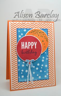 Gothdove Designs - Alison Barclay Stampin' Up! ® Australia : Stampin' Up! Australia - Color Coach Card #99 - Stampin' Up! Celebrate Today