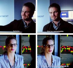 """Ollie & Felicity, I know they're """"just friends"""", but I like them together. :-) *Shipping*"""