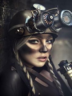 Good intent baby Fantastic Steampunk Fashion by Madrid, Spain based artist, photographer Rebeca Saray. Steampunk is mostly associated with fantasy Steampunk Cosplay, Steampunk Mode, Corset Steampunk, Steampunk Makeup, Steampunk Kunst, Style Steampunk, Steampunk Clothing, Steampunk Fashion, Steampunk Images