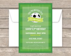 Soccer Party Invitation  Football Party  Sports by mypartydesign