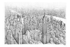 USA - NEW YORK,   Drawing on canvas, , 230x160cm   © Pavel Filgas 2016   https://www.facebook.com/Pavel-Filgas-Art-500412180019911/ https://www.instagram.com/pavel_filgas_art/ https://twitter.com/PavelFilgas https://www.pavelfilgas.com, PAVEL FILGAS