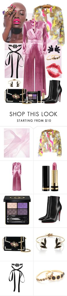 """romper"" by ingfreego ❤ liked on Polyvore featuring Temperley London, Gucci, Christian Louboutin, Proenza Schouler, Anton Heunis, Lipsy, Gorjana and Simone Rocha"