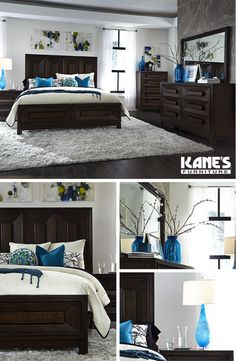 Are you one for contemporary style? As seen in the Ocean Drive Bedroom Collection, pieces with sleek edging and simple woodwork best exemplify contemporary furniture. Add to the style with minimalist décor.