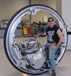 V8 mono wheel motorcycle. Street legal.