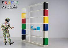 Coloured Arlequin Skaffa modular bookcase  made in italy  MORE INFORMATIONS http://www.piarotto.com/arlecchino/