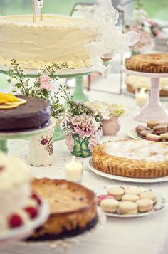 Dessert table - vintage style.  THIS LOOKS LIKE A TABLE MY MOTHER USED TO SPREAD DURING CHRISTMAS AND THANKSGIVING..