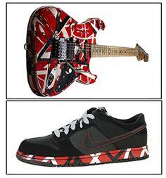 The shoe has lines just like eddie van halen s famous guitar. 111f563cd