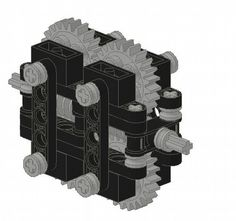 Torsen differential: A LEGO® creation by Jos Westend : MOCpages.com