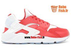 "Nike Air Huarache Run Prm ""Milan"" - Chaussure Nike Running Pas Cher Pour Homme Universite Rouge/Blanc 704830-610"
