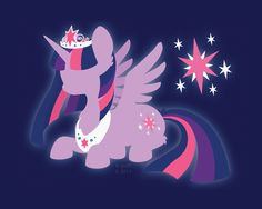 Princess Twilight Sparkle Silhouette Wallpaper by hpuff.deviantart.com on @deviantART