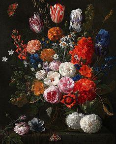 Nicolaes van Verendael Still Life with Flowers 1665-70 Via: StillifeQuickheart