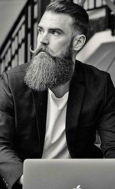 Trendy Long Beard And Hairstyle Combinations For Men - 15 Long Beard And Hairstyle Combinations Men Should Opt For Best Picture For Accessories ideas Fo - Long Beard Styles, Hair And Beard Styles, Abercrombie Men, Great Beards, Awesome Beards, Bearded Tattooed Men, Bearded Men, Audemars Piguet, Gq