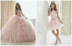 A two way quinceanera dress princess dress quinceanera dresses pink prom dr Dama Dresses, Quince Dresses, Pink Prom Dresses, Quinceanera Dresses, Pink Dress, Wedding Dresses, Quinceanera Ideas, Sweet 15 Dresses, Pretty Dresses