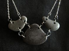 Lake Superior Stone Necklace  This statement necklace is amazing! The center stone is 2 1/4 long and 2 1/2 wide at the widest part. The