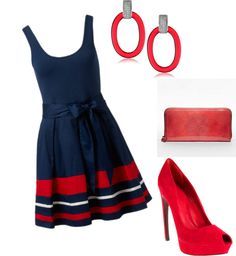 """Great collection by ezaremba on Polyvore. It's called """"Hotty Toddy!"""" :)"""