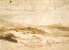 Claude Lorrain, Views from Velletri, c.1638. 21.9 x 32 cm.