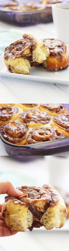 Pizza Dough Cinnamon Rolls - The easiest cinnamon rolls recipe EVER made with store-bought pizza dough. Quick and no-fuss recipe for busy moms!
