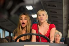 """""""Hot Pursuit"""" movie still, 2015.  L to R: Sofia Vergara, Reese Witherspoon."""