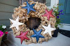 Last Minute 4th of July Burlap Wreath