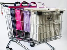 In One Simple Action, Simply Spread The Bags Across Your Shopping Trolley, Giving You 4 Upright Bags To Pack And Sort Your Groceries