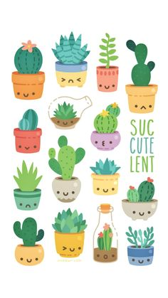 sucCUTElents MINI PRINT - You are in the right place about cactus dessin Here we offer you the most beautiful pictures about - Mini Drawings, Cute Kawaii Drawings, Doodle Drawings, Easy Drawings, Animal Drawings, 365 Kawaii, Kawaii Art, Cactus Drawing, Easy Doodle Art