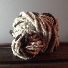 Handgesponnen & -gefärbt - Handgesponnene Wolle - ein Designerstück von superflausch bei DaWanda