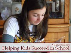 7 ways to help kids succeed in school - from 7HelpfulHints.com