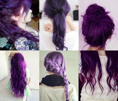 purple hair? am I too old for this?  please tell me no.
