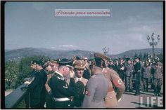 Hitler, Himmler, Goebbels, Mussolini, Hess nel maggio 1938 al Piazzale Michelangelo.#Firenze.