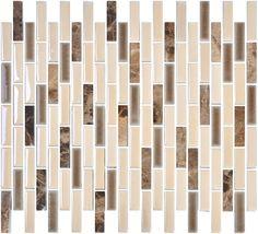 Tiles Decorative Wholesale Decorative Bedroom Artists Long Strip Glass Mosaic