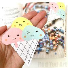 Kawaii inspired Icecream Bookmark Corner. Fun for summer!