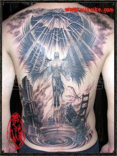 Agel-tattoo-men - 60 Holy Angel Tattoo Designs <3 !