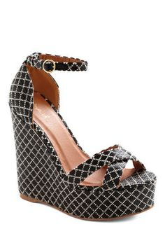 $22.99 Pool Decked Out Wedge, #ModCloth
