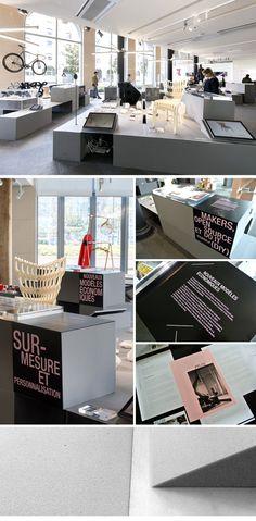 LE LIEU DU DESIGN Graphisme et scénographie de l'exposition impression 3d, l'usine du futur au lieu du design.