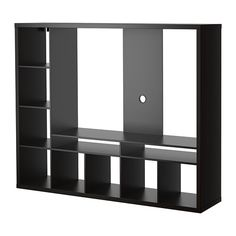 IKEA - LAPPLAND, TV storage unit, black-brown, The shelves can be placed to the left or right. Choose the placement that suits you best. Back panel is reinforced to hold a flat screen TV. 2 open compartments for a DVD-player, etc. Tv Cabinet Ikea, Tv Storage Unit, Ikea Storage, Ikea Tv Stand, Tv Regal, Design Ikea, Tv Design, Tv Wand, Sewing Rooms
