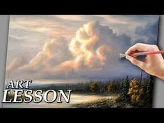 (29) How to paint clouds | Acrylic landscape painting lesson - YouTube