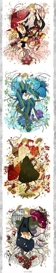 Natsume Takashi & Madara   Natsume Yuujinchou #manga