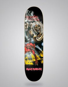dba8a4bf833a Skate   Music  Iron Maiden The number of the beast 8.125 Deck Bottom Iron  Maiden