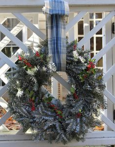 Store Bought Christmas Wreath