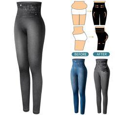 YingY store Womens Knitted High Waist Pants Leggings Fitness Push Up Skinny Leggins
