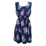 Mogul Womens Blue Sundress Floral Print Sleeveless Casual Dresses Image 1 of 2      https://www.walmart.com/search/?cat_id=0&grid=true&page=3&query=MOGUL+INTFERIOR+#searchProductResult