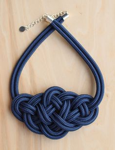 www.krisztinalango.com Baressa necklace Blue knotted necklace
