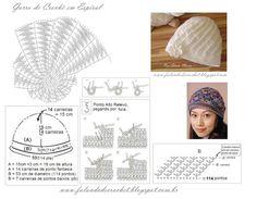 FALANDO DE CROCHET: Gorro Divino (Divine Hat) - Croche - Crochet - Croché