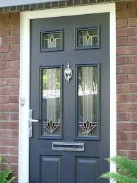 PVC Composite Door 2 Narrow Lite - 36.25in - Black - Right Hand from ...