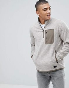 Find the best selection of Abercrombie & Fitch Black Label Sports Zip Trail Fleece in Oatmeal. Shop today with free delivery and returns (Ts&Cs apply) with ASOS! Asos, Abercrombie Fitch, Sweat Shirt, New T Shirt Design, Outdoor Apparel, Sleeveless Hoodie, Mens Sweatshirts, Clothes For Sale, Men Casual