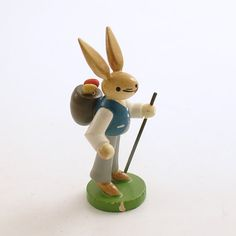 Vintage Easter Bunny Rabbit Erzgebirge Germany by efinegifts, $22.95